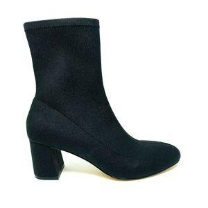 Jewel Badgley Mischka Rena Black Sock Boot 7M